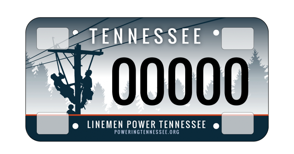 License Plate - Powering Tennessee